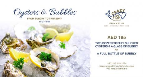 Oysters & Bubbles - Crazy Fish | Reserveout
